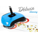 Deluxa Cleaning - Scopa Rotante Senza Fili, Paletta e Pattumiera Tutto-in-1