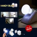 Handy Bulb® - 4+4 Lampadine Led Portatili Senza Fili Brillanti e Montabili a Parete