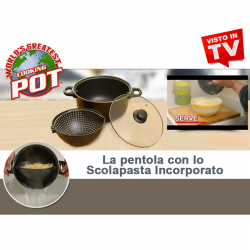 World's Greatest Pot - La Pentola Con Scolapasta Incorporato