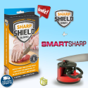 Smart Sharp: Affilacoltelli in carburo di tungsteno + Sharp Shield: Guanti Protezione delle Mani