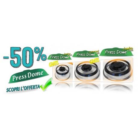 Press Dome® - I Coperchi per Conservare gli Alimenti Sottovuoto in modo Istantaneo Pratico e Pulito