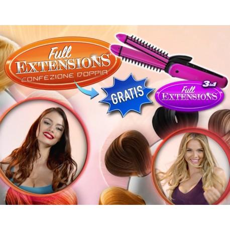 Full Extensions® - Le Extensions per capelli Facili da Applicare, Invisibili e Perfette 2Pack + Piastra OMAGGIO!!!
