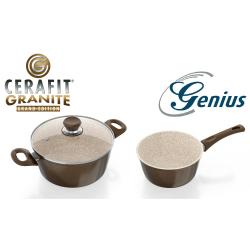Genius Cerafit® Granite - Pentola (24 cm) + Casseruola (16cm)