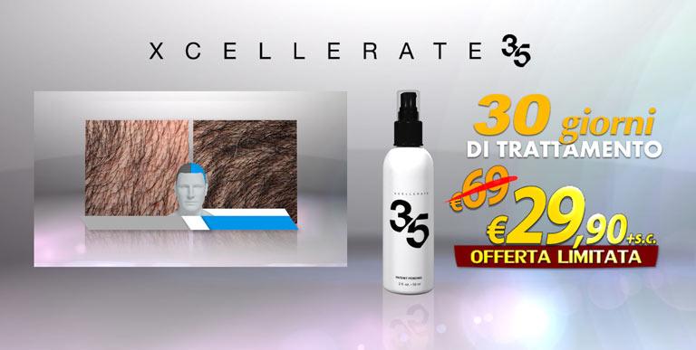 Xcellerate35 per un mese di trattamento, ad un prezzo esclusivo scontato del 50%