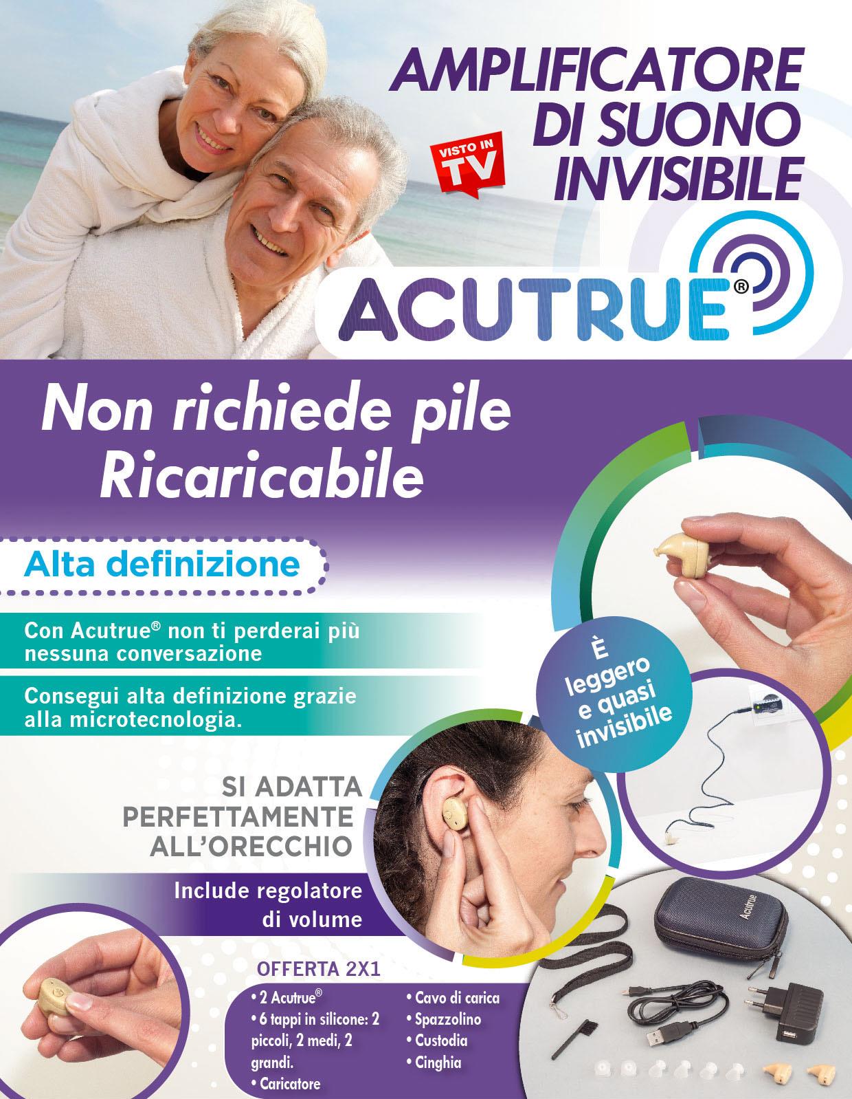 Acutrue - Il più Performante Apparecchio Acustico Ricaricabile