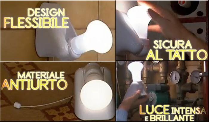 Handy Bulb 4+4 Lampadine Led Portatili Senza Fili Brillanti e Montabili a Parete