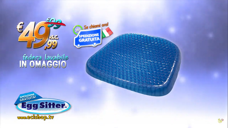 Egg Sitter Cuscino Antidecubito in gel Traspirante