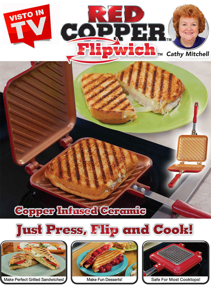 Red Copper Flipwich Visto in TV