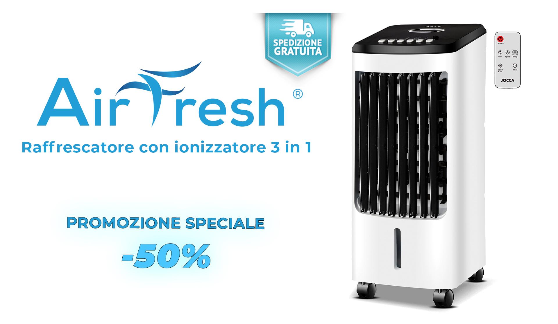 Condizionatore con ionizzatore, purificatore dell'aria e raffreddatore sarà il tuo alleato perfetto per l'estate.