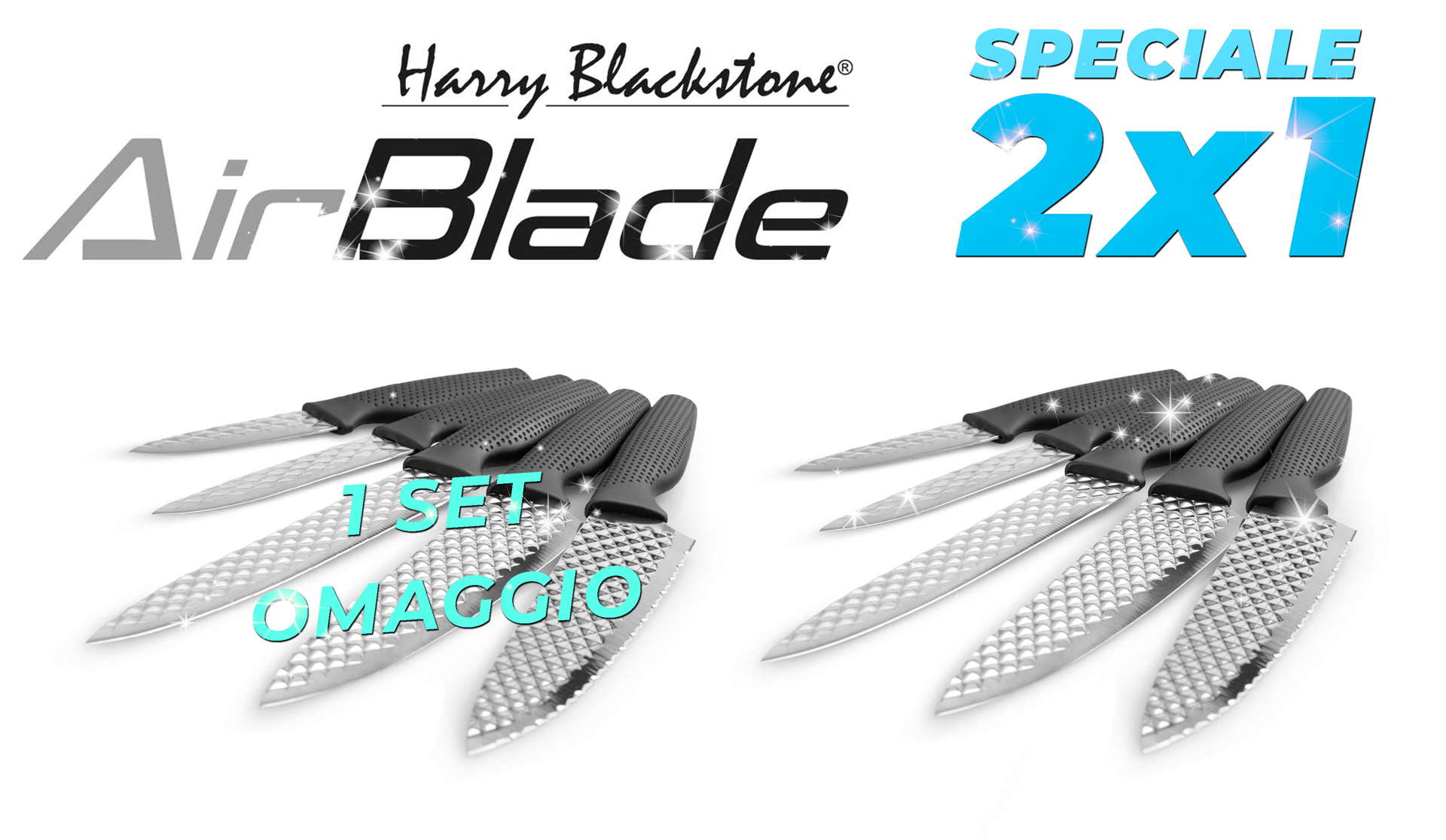 Harry Blackstone Airblade Set coltelli professionali