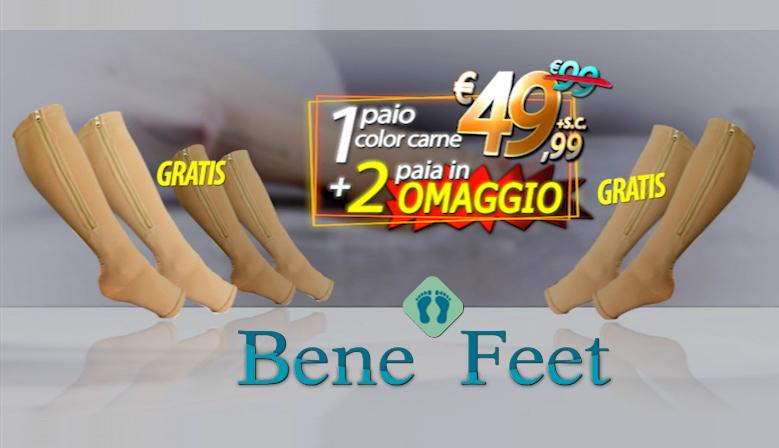 BeneFeet - Le calze a compressione graduale con chiusura lampo