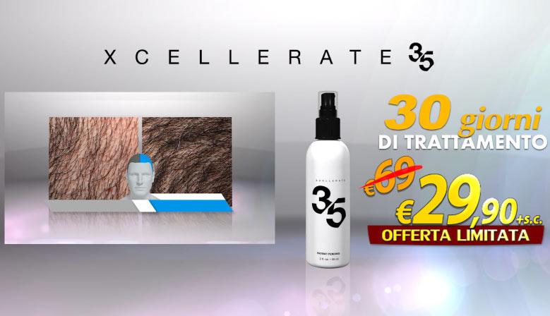 E se vuoi puoi ordinare la confezione doppia di Xcellerate35 per un trattamento completo di 60 giorni ad un prezzo ancora più conveniente! Ma non è tutto! Altri 30 giorni di trattamento te li regaliamo noi! Gratis e senza alcun costo aggiuntivo!